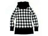 puresin PS20101106女 PURESIN 时尚格子卫衣 黑白