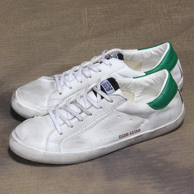 531979744935_白绿 韩版做旧平底鞋小白休闲运动鞋