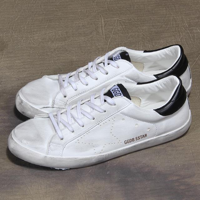 531979744935_白黑 韩版做旧平底鞋小白休闲运动鞋