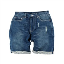 ANB 2016SSP63 ANB WSD. WORN-OUT DENIM SHORTS