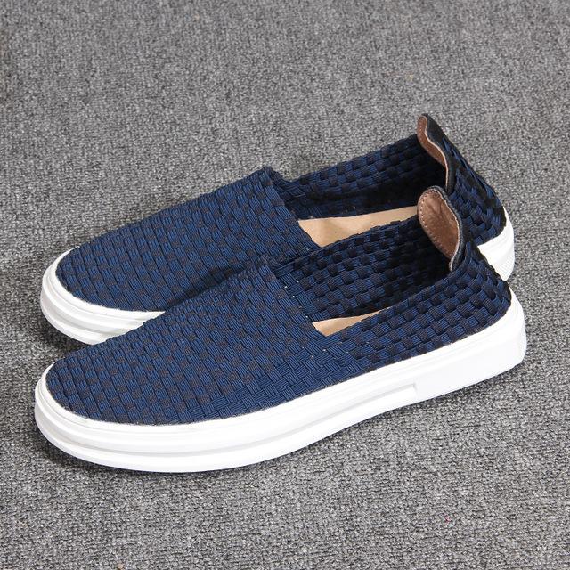 531318954249_B931蓝色 低帮编制单鞋浅口休闲鞋