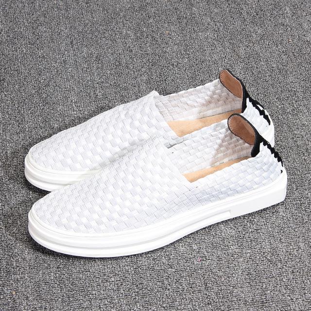 531318954249_B931白色 低帮编制单鞋浅口休闲鞋