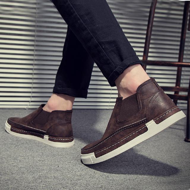 539366301980_9528棕色 复古布洛克休闲套脚皮鞋
