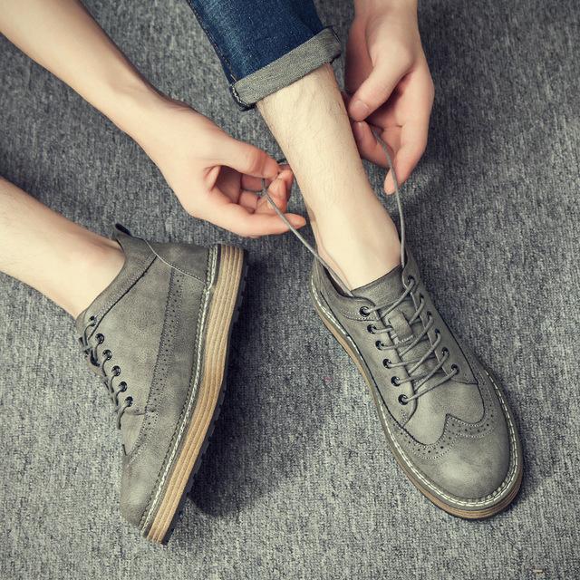 540467946530_777-1灰 英伦复古布洛克工装靴沙漠马丁靴皮鞋