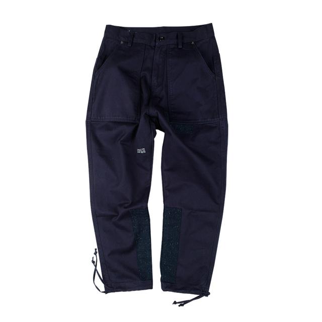 547330669338_深蓝 ANB BRAND2017SS 水洗拼布重镑工装裤