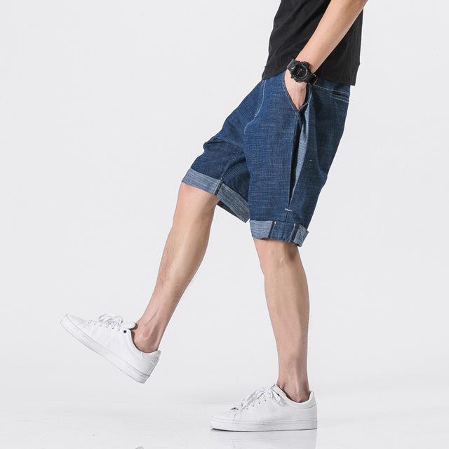 548050411888_蓝色 日系透气薄款立体剪裁短牛仔裤