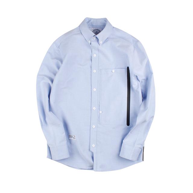 549115801805_浅蓝 ANB 精梳牛津纺压胶口袋衬衫浅蓝
