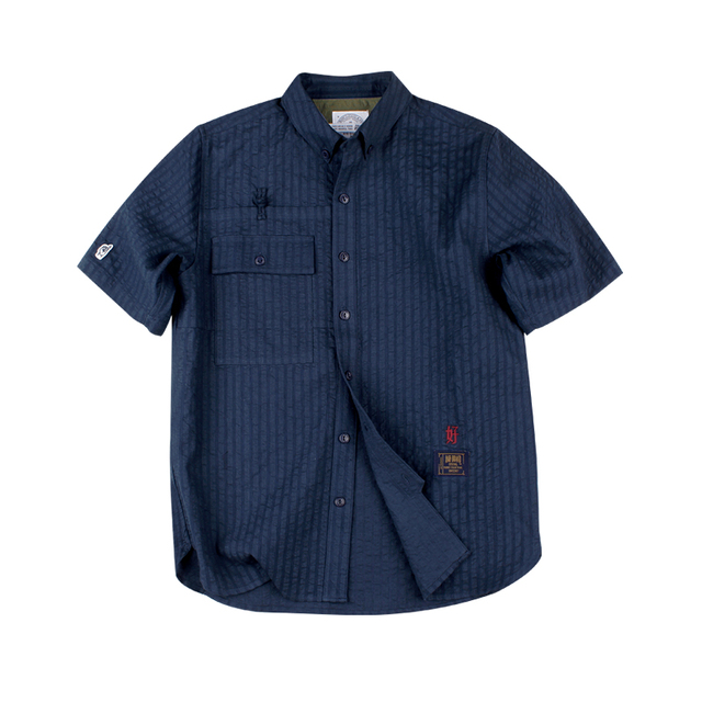551805258966_藏青色 ANB BRAND FOAMED SHIRT