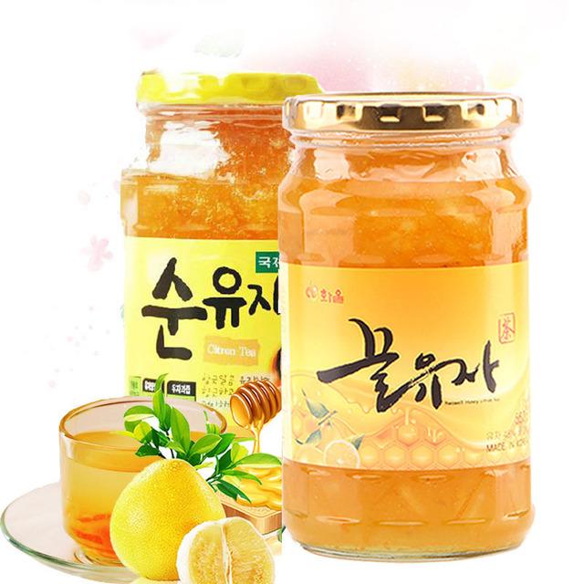 1164238141 韩国进口 慈恩岛 KJ国际特浓蜂蜜柚子茶560g