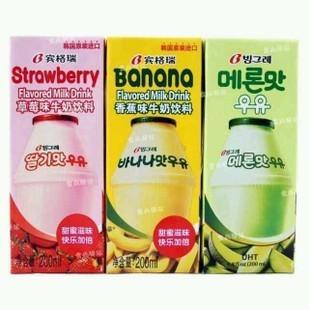 39215808492 韩国进口 宾格瑞banana 香蕉牛奶 饮料 单瓶装