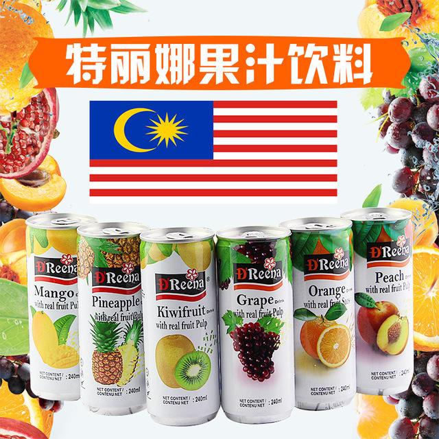 549659414476 马来西亚进口饮料 Dreena/特丽娜多味水果肉饮料240ml