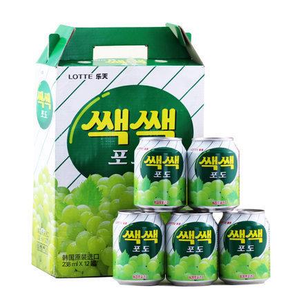 549739091627 韩国进口正品 乐天 粒粒葡萄汁果味果肉饮料果汁238ml