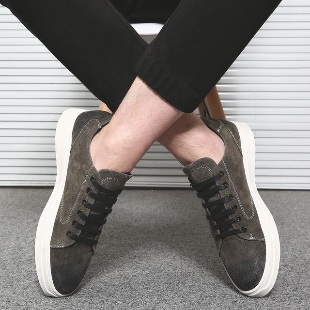 562149669904_1862深空灰 冬季板鞋潮流韩版英伦低帮系带休闲鞋