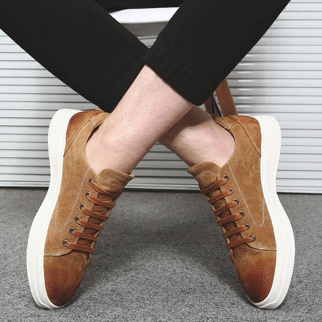 562149669904_1862沙色 冬季板鞋潮流韩版英伦低帮系带休闲鞋