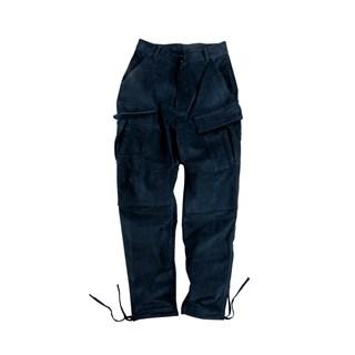 ANB 2017AW / 基础细条绒工装长裤藏青色