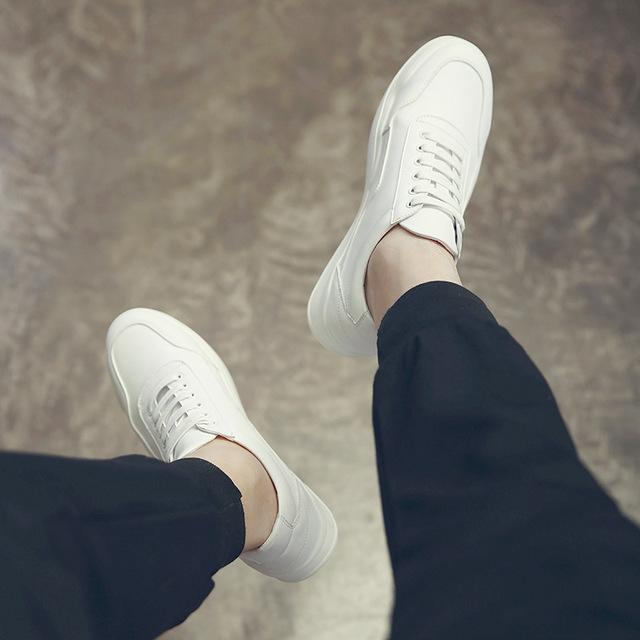 564364404175_1825白色 2018百搭小白鞋男士春季韩版潮流休闲鞋