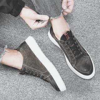 春季新款韩版休闲鞋百搭真皮鞋子