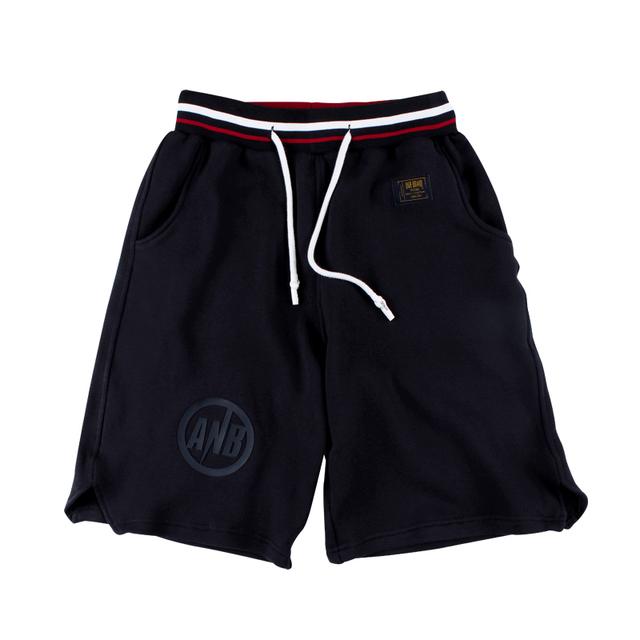 568298897572_藏青色 ANB 2018SS/WELCOME胶囊系列重磅卫衣短裤藏青色