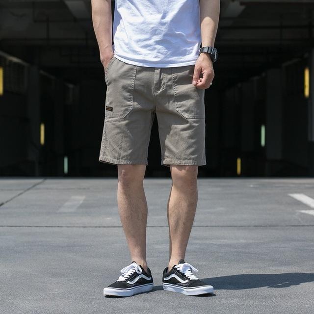 568895226555_灰色 多口袋休闲军事中裤夏季日系工装短裤多袋五分裤