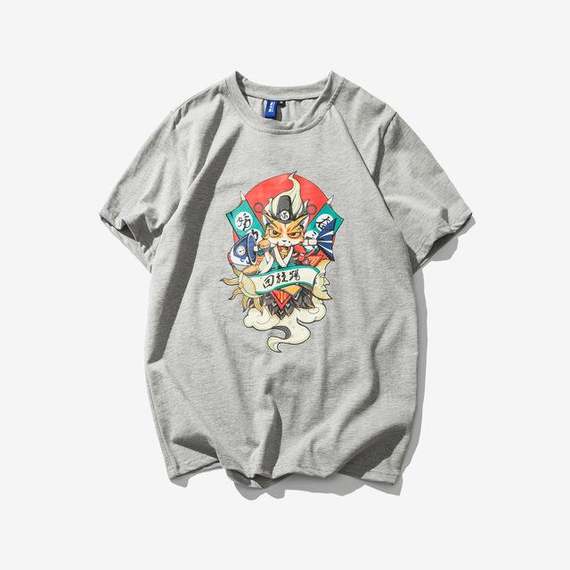 568834552185_灰色 2018夏季潮流休闲纯棉短袖T恤