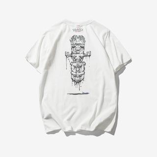 2018夏季新款神秘图腾印花短袖男士T恤
