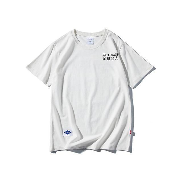 569039959681_白色 2018原创夏装新款简约字母印花短袖T恤