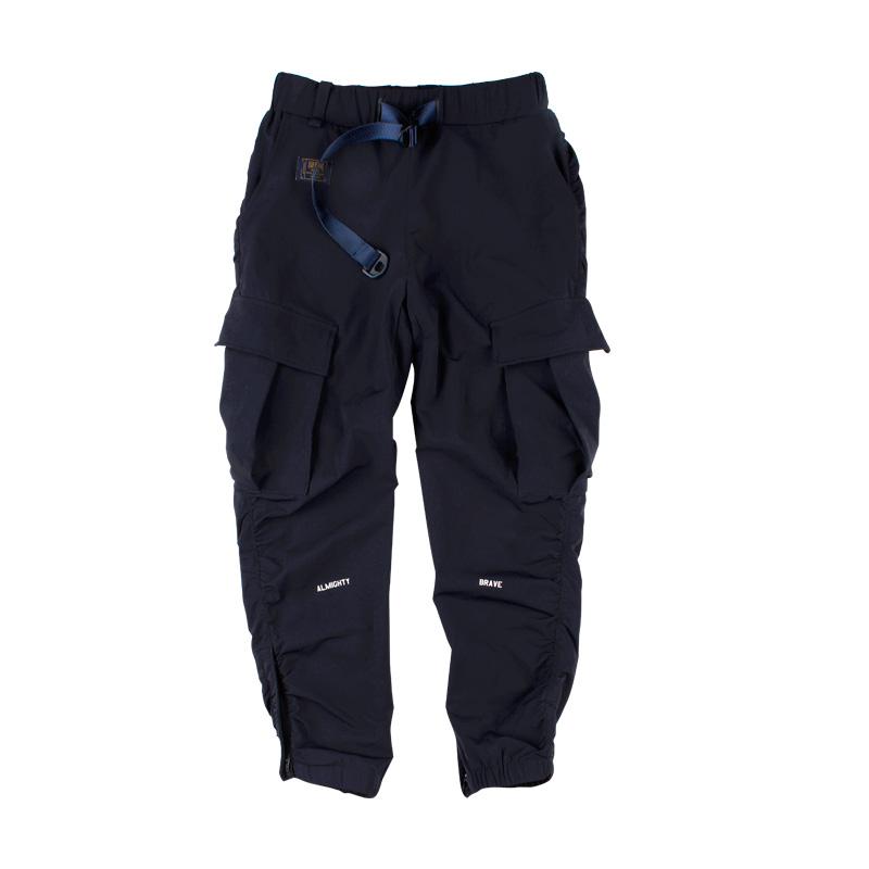570223018313_藏青色 ANB2018SS/不规则剪裁机能多袋长裤藏青色