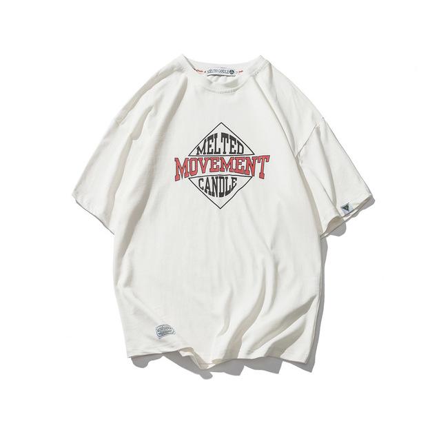 569849008099_白色 夏季新款美式字母印花休闲T恤