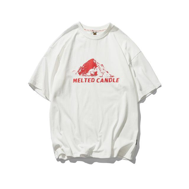 569836028896_白色 夏季新款复古印花圆领短袖T恤