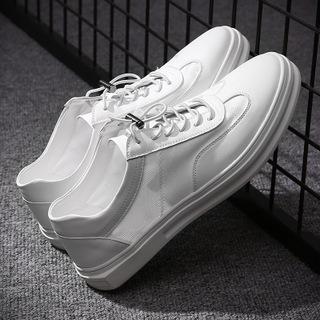 夏季新款透气小白鞋网纱男士休闲单鞋