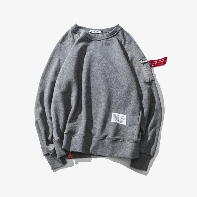 556151582424_灰色 日系原创纯色MA-1青年秋季外套卫衣