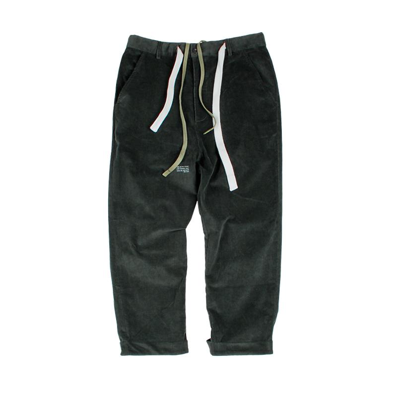 583515794069_墨绿色 ANB2018秋冬/GOODJOB细条绒八分裤(2色)墨绿色