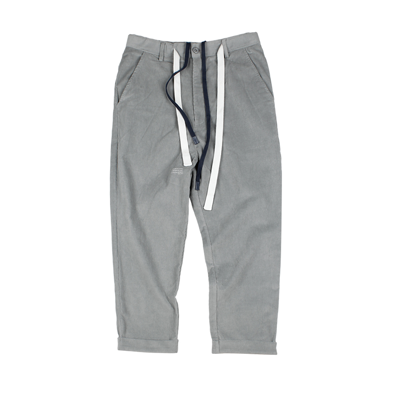583515794069_浅灰色 ANB2018秋冬/GOODJOB细条绒八分裤(2色)浅灰色