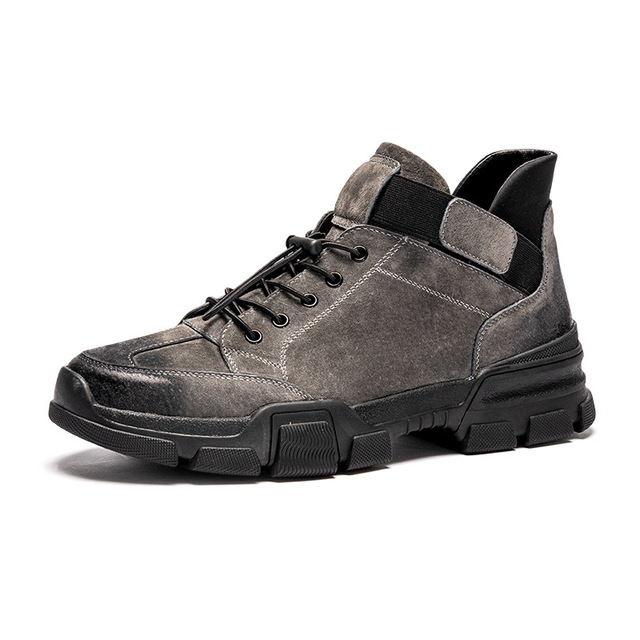 580744029044_jt188灰色 冬季男鞋韩版潮流英伦百搭工装马丁靴高帮棉鞋男士休闲