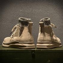 583701347772_jt260沙色 2018马丁靴男冬季袜子鞋英伦工装鞋复古男鞋韩版潮流高