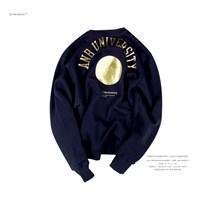 ANB019SS019 ANB UNIVERSITY烫金印花套头卫衣