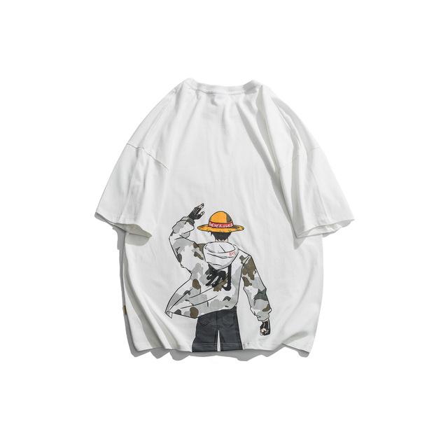 593048819074_白色 日系动漫印花短袖T恤男夏季新款休闲宽松体恤潮流情侣