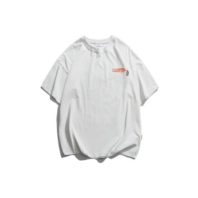 594170654016_白色 2019夏装动漫潮流卡通印花情侣T恤短袖上衣男潮夏季潮