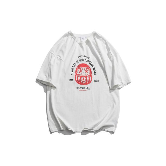 594014525216_白色 19日系夏装新款青蛙印花潮牌情侣短袖T恤ins潮男女半袖