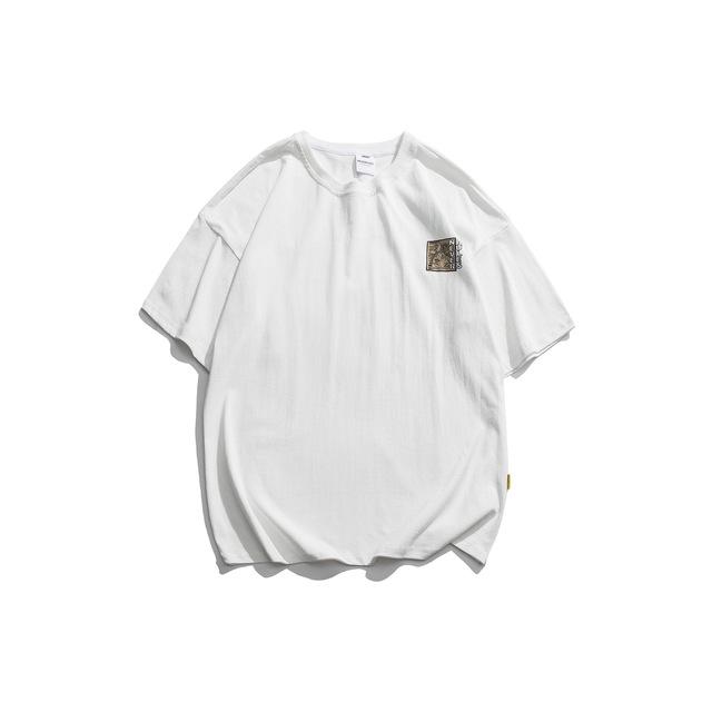 594014481609_白色 夏季新款日系复古猩猩印花潮牌原宿风短袖t恤潮男女情
