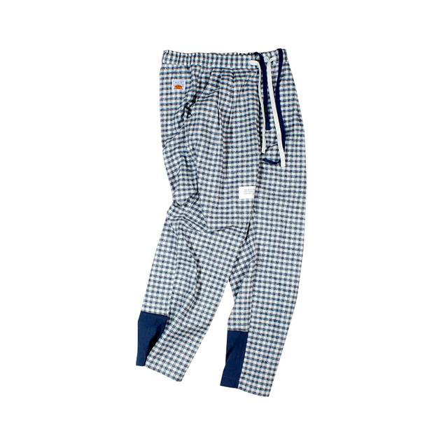 596394848631_格子 ANB2019SS / GOODJOB 睡裤款拼接格子长裤格子