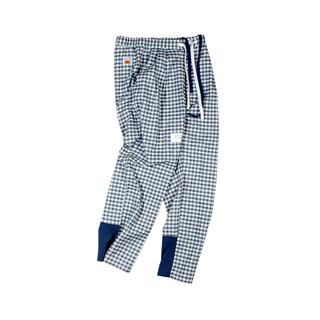ANB2019SS / GOODJOB 睡裤款拼接格子长裤格子