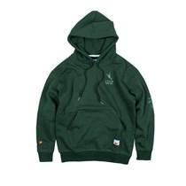 ANB019AW035 ANBSAURUS定制人字纹面料卫衣帽衫(墨绿)