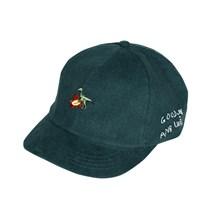 ANB019AW039 ANBSAURUS小恐龙和花刺绣灯芯绒帽子