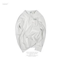 ANB019AW003 ANB定制加厚珠地布长袖oversize TEE(白)