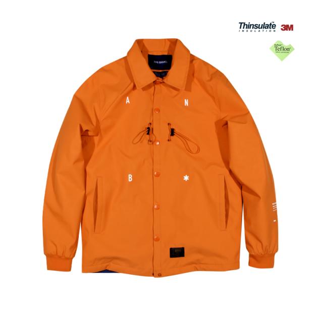 610166603138_橘红色 ANB 2019秋冬杜邦特氟龙3M新雪丽薄棉教练夹克(橘红)